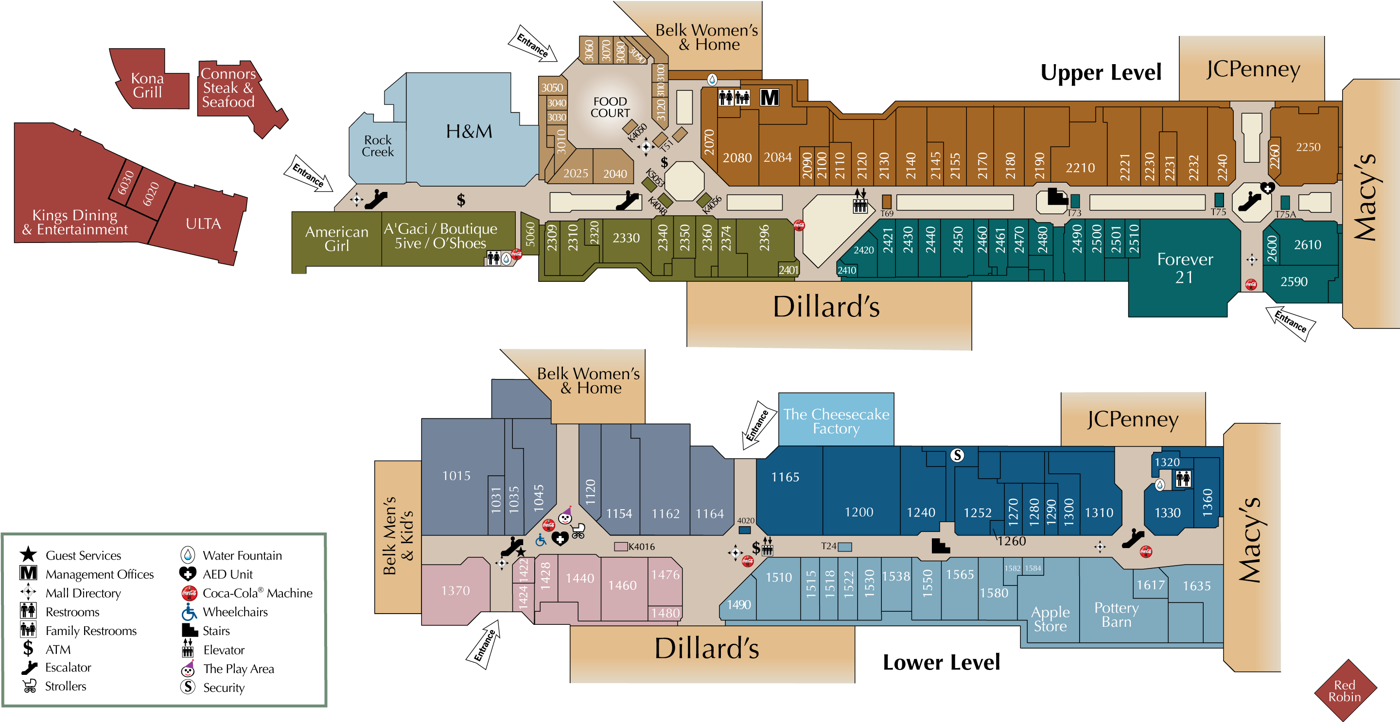 City Creek Mall Map Mall Directory | CoolSprings Galleria