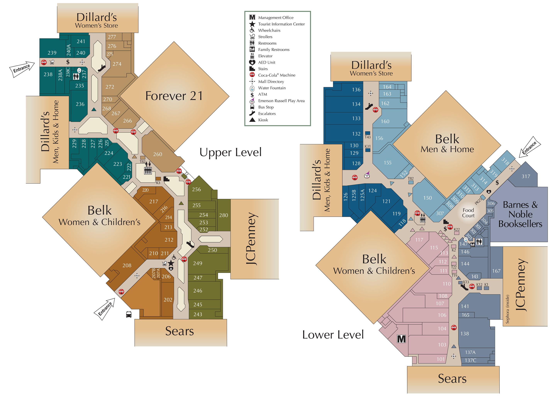 Mall Directory Hamilton Place - Map of georgia mall