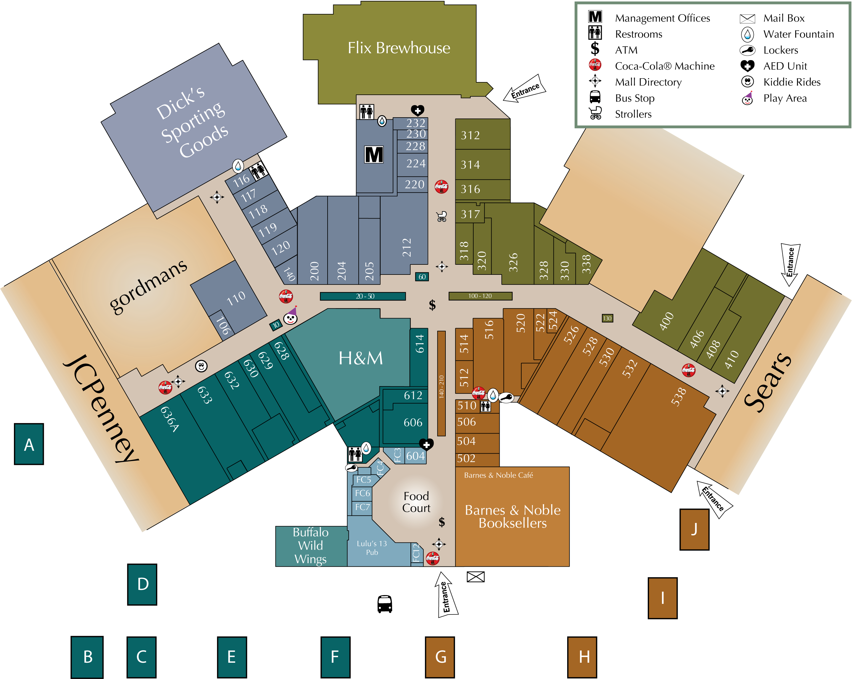 West Towne Mall Map Mall Directory | East Towne Mall West Towne Mall Map