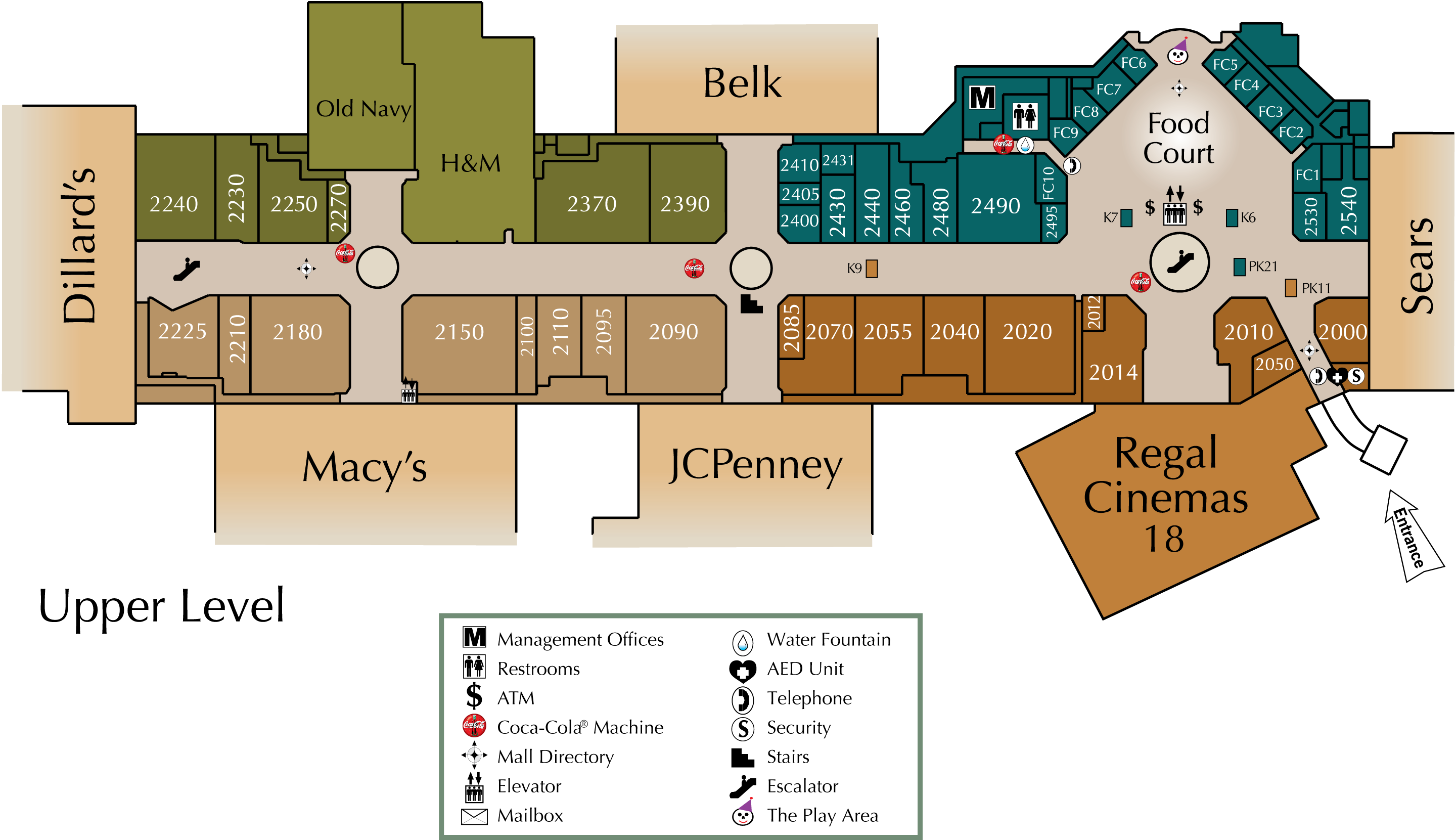 Mall Directory Arbor Place - Map of georgia mall