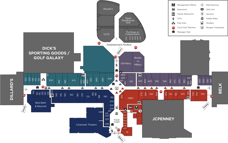 Coastal Grand Mall directory map