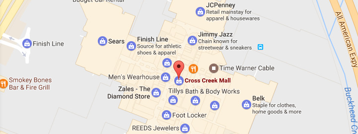 Mall Directory | Cross Creek Mall