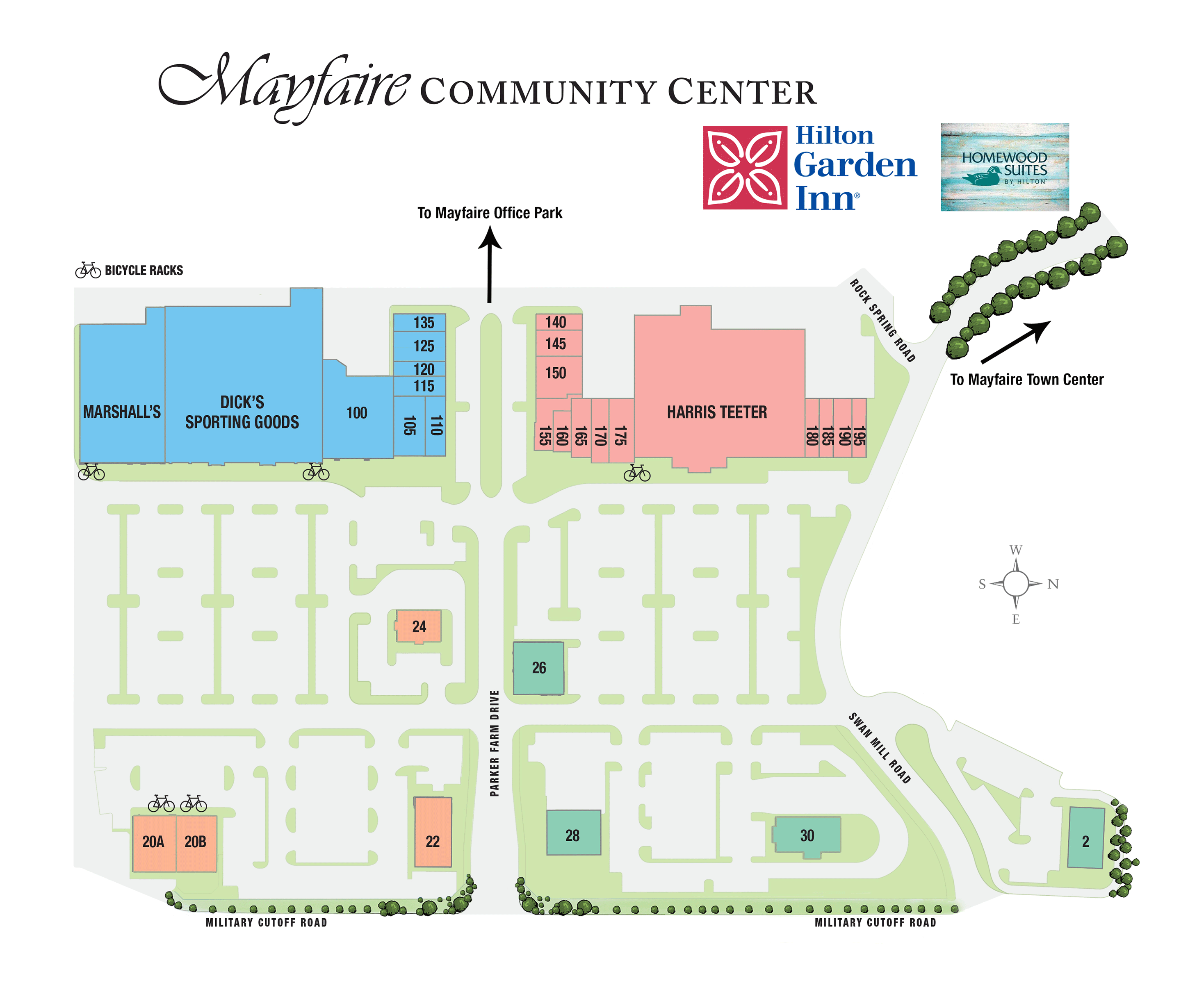 Mayfaire Community Center directory map