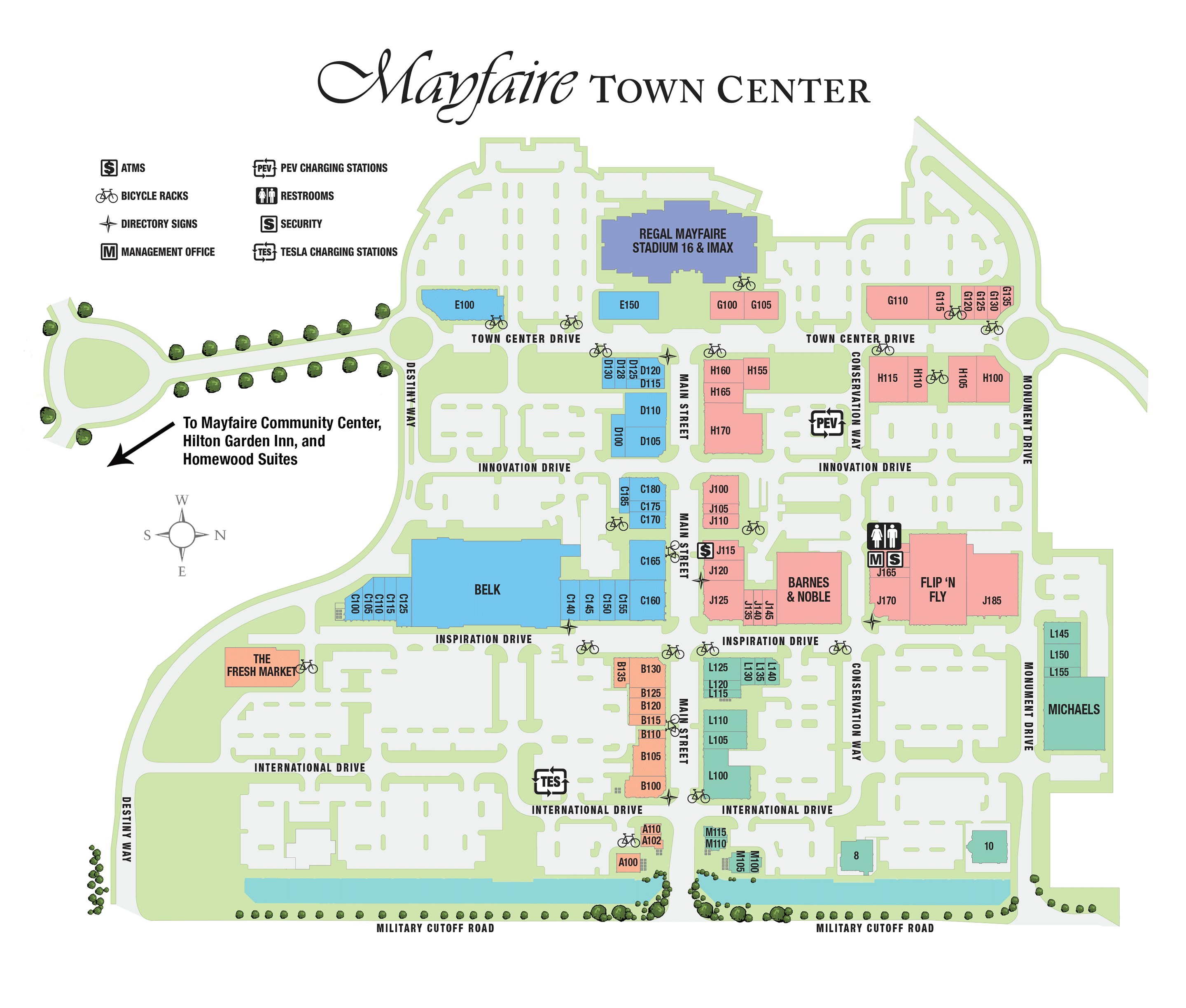 Mayfaire Town Center directory map