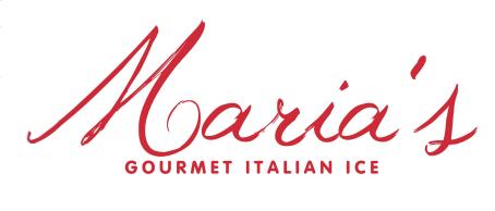 Maria's Gourmet Italian Ice logo