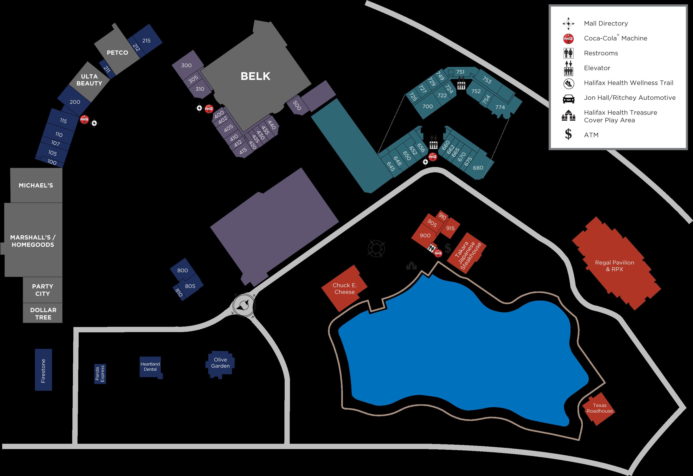 The Pavilion at Port Orange map