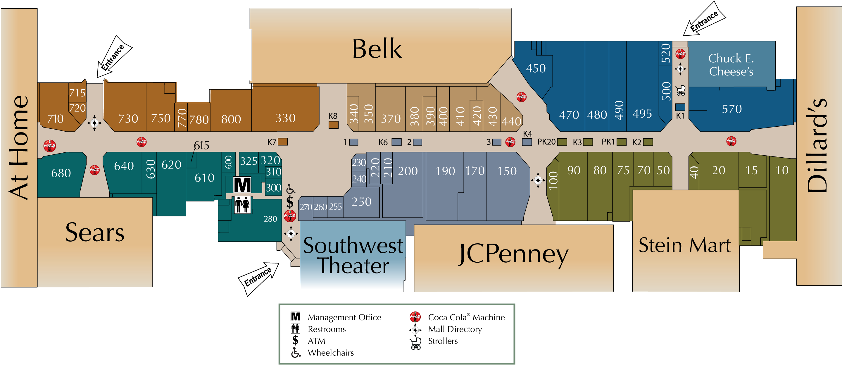 Pecanland Mall Map Lakeforest Mall Map | compressportnederland Pecanland Mall Map
