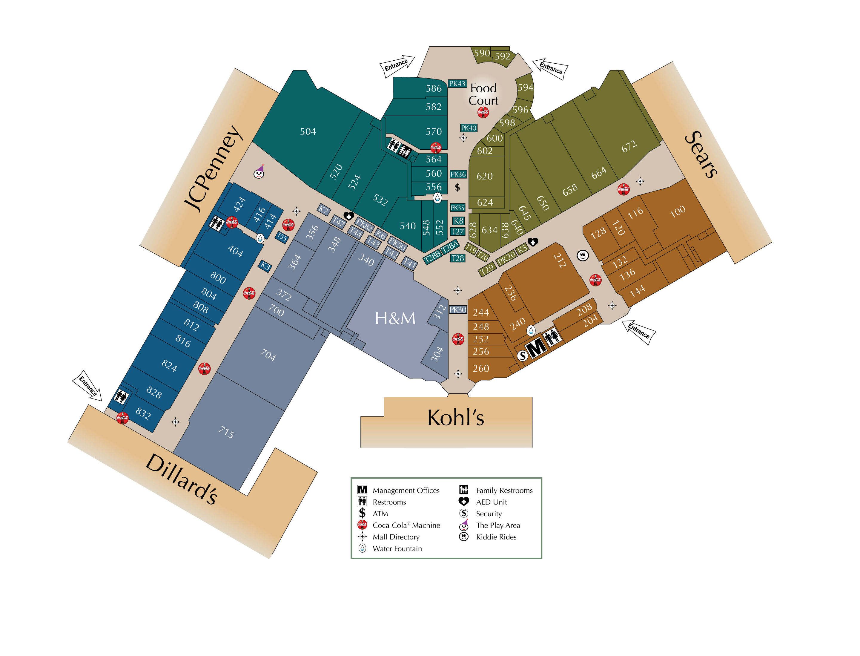 Kenwood Towne Center Map | Helderateliers