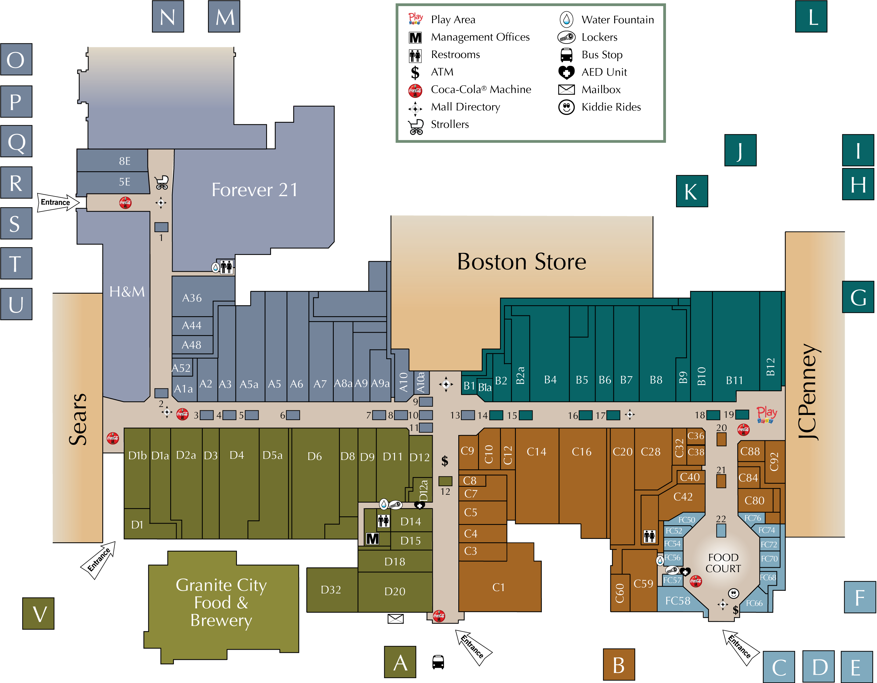 West Towne Mall directory map