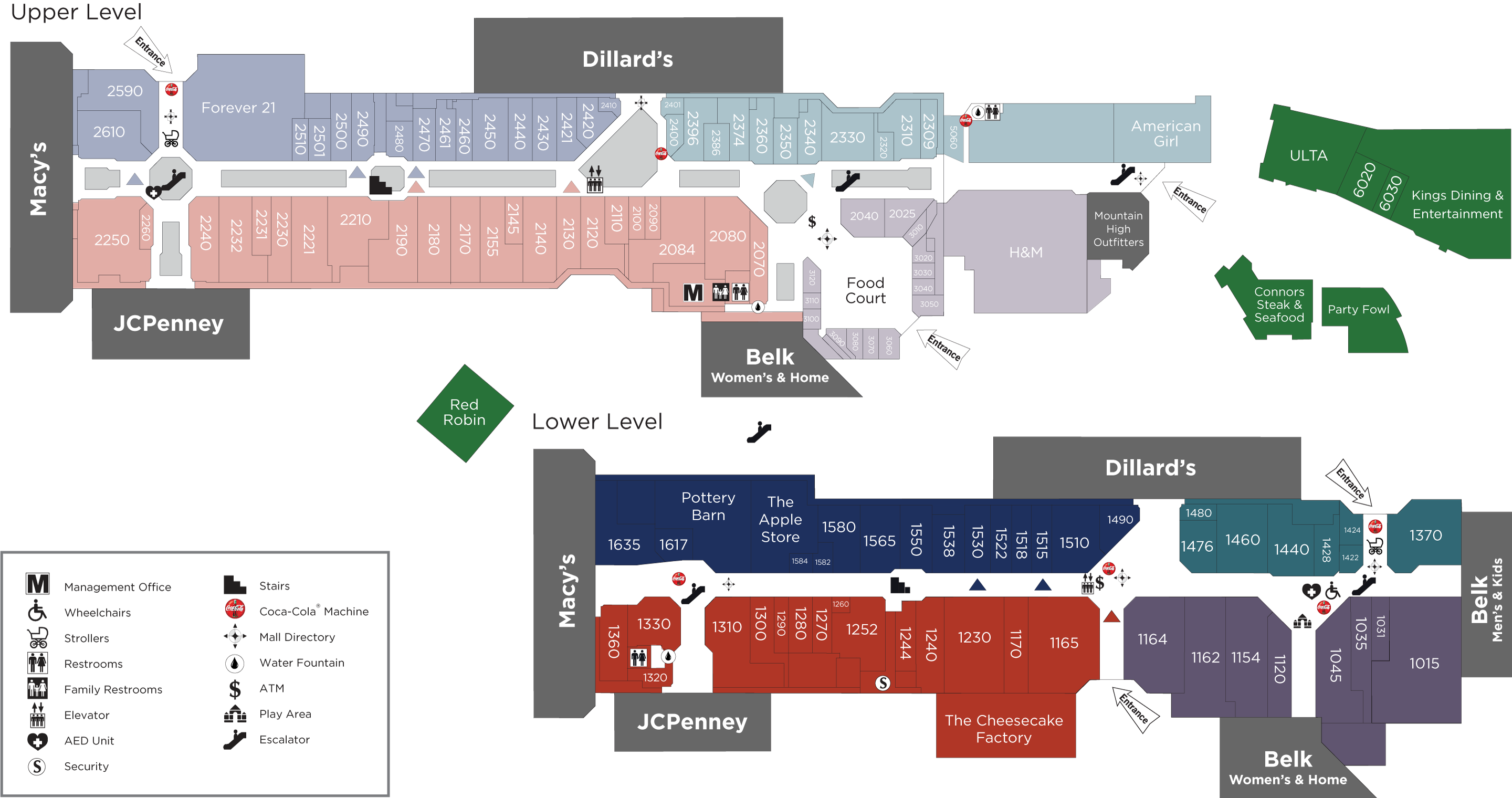 CoolSprings Galleria directory map