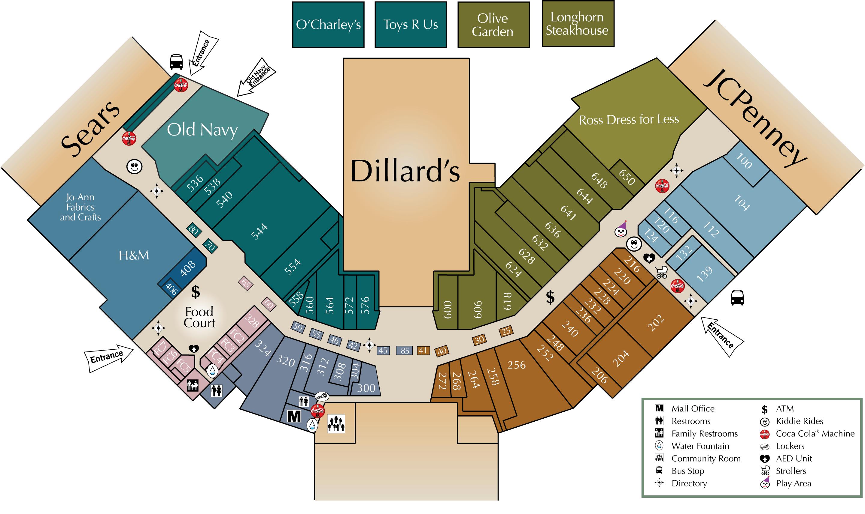 mall directory jefferson mall
