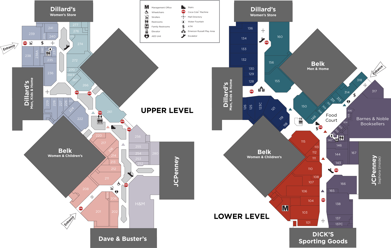 Hamilton Place directory map