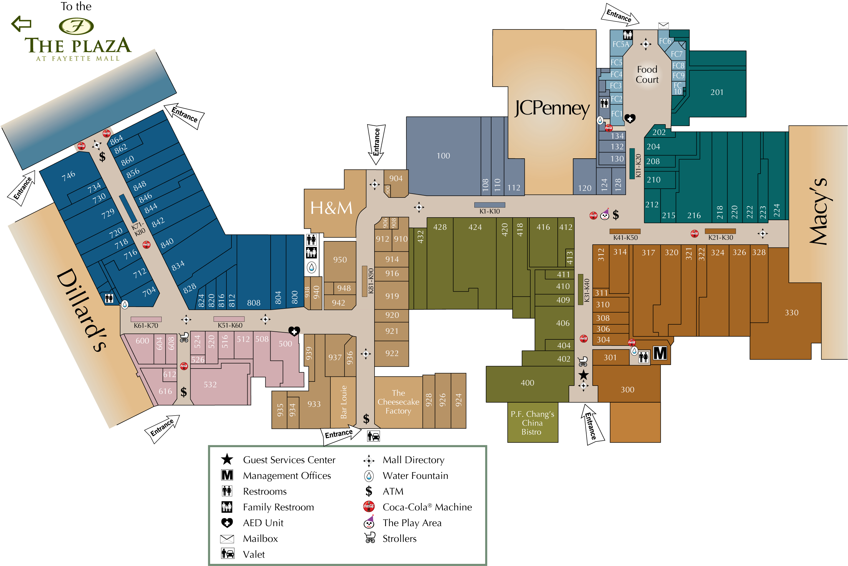 Garden State Plaza Directory Map