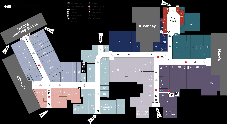 Fayette Mall directory map