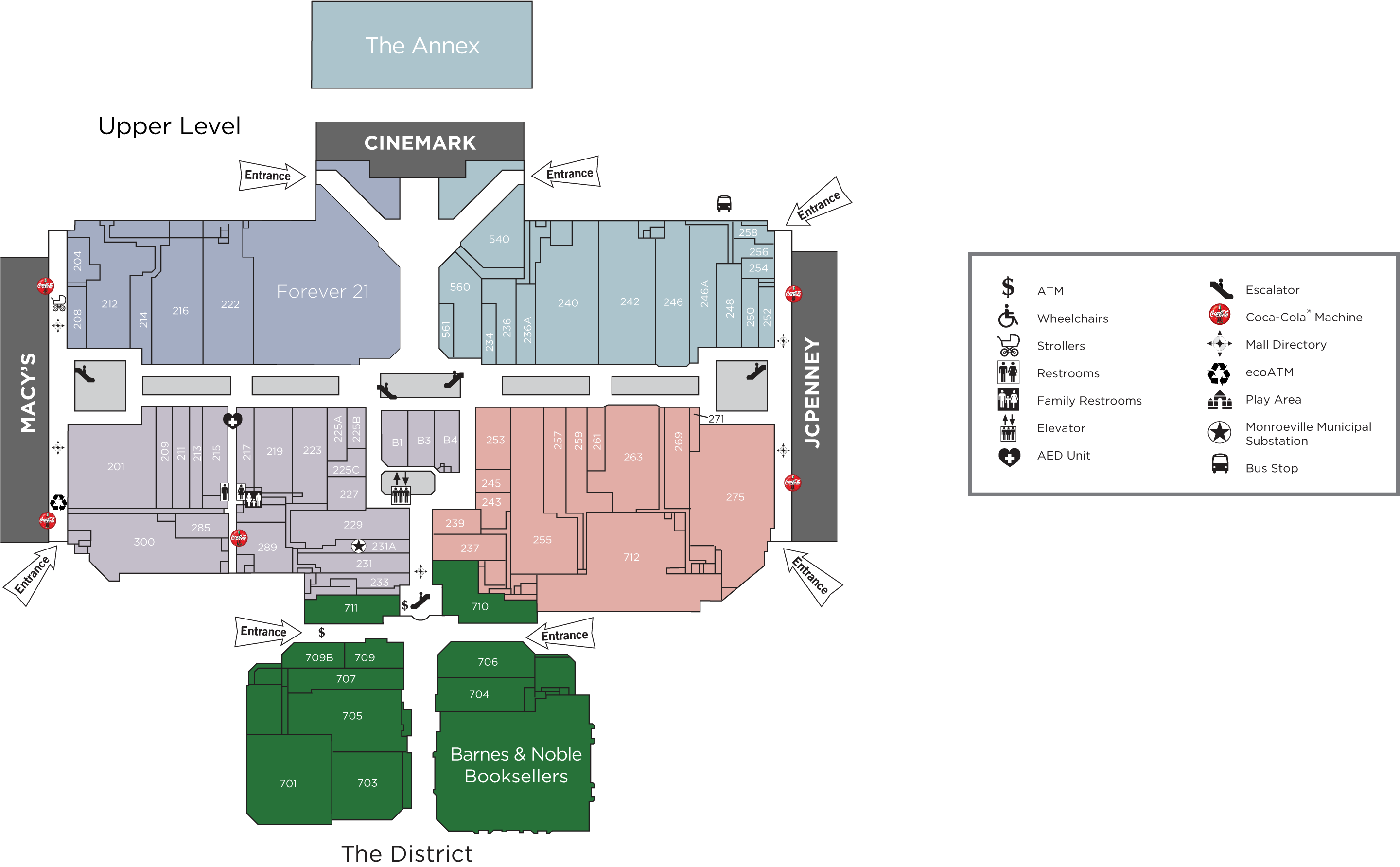 upper level directory map image