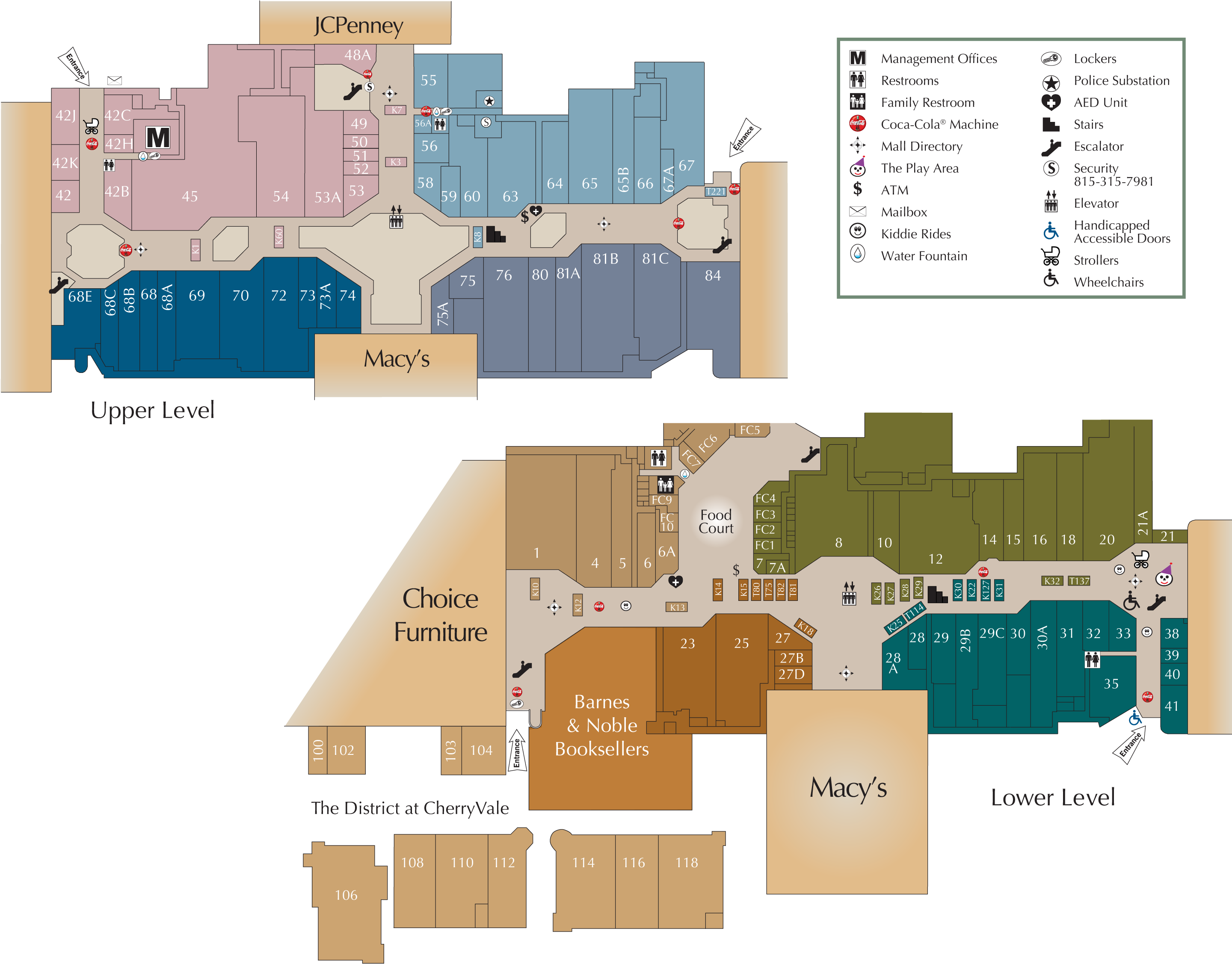 Cherry Creek Mall Map Mall Directory | CherryVale Mall