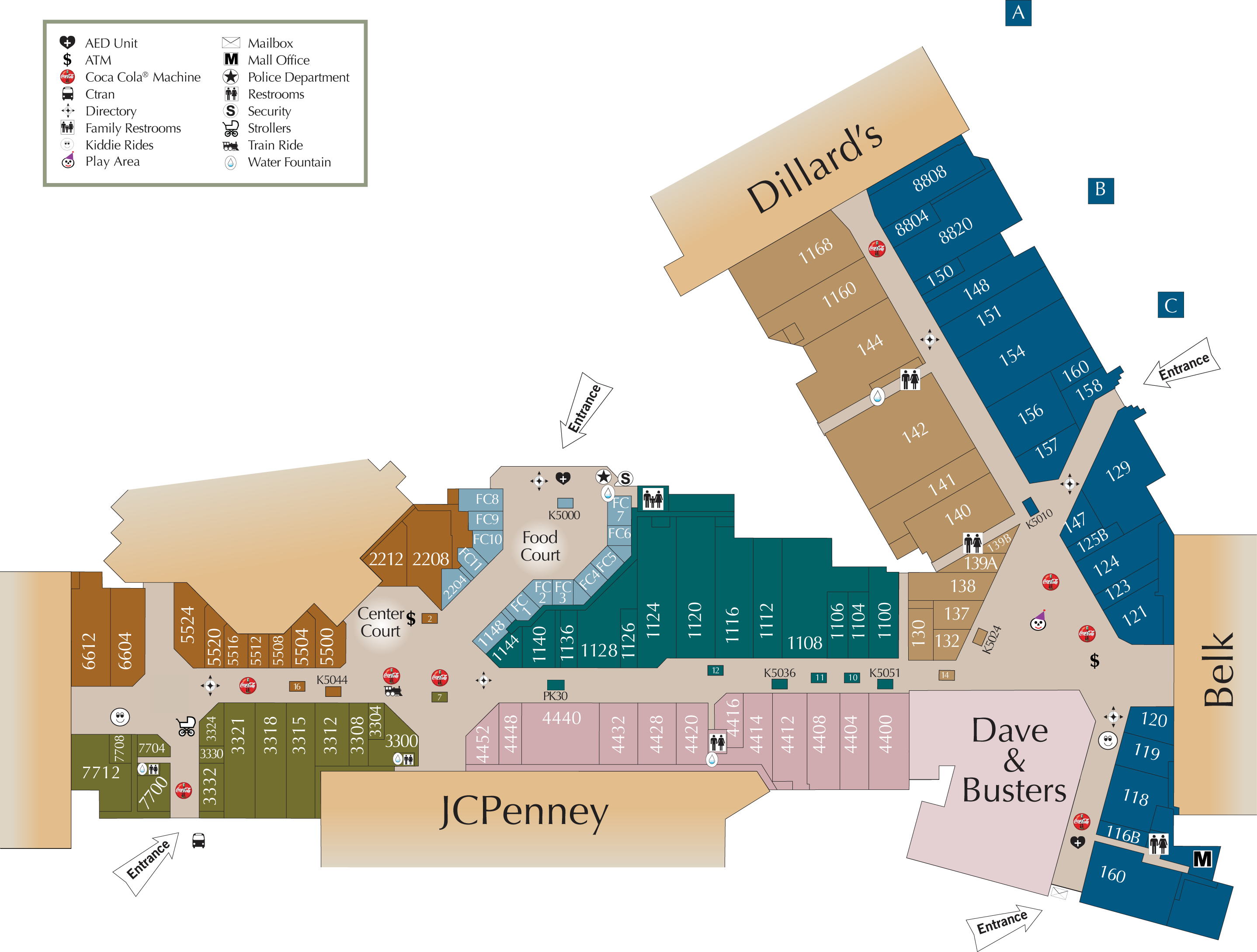 Mall Directory | Cary Towne Center