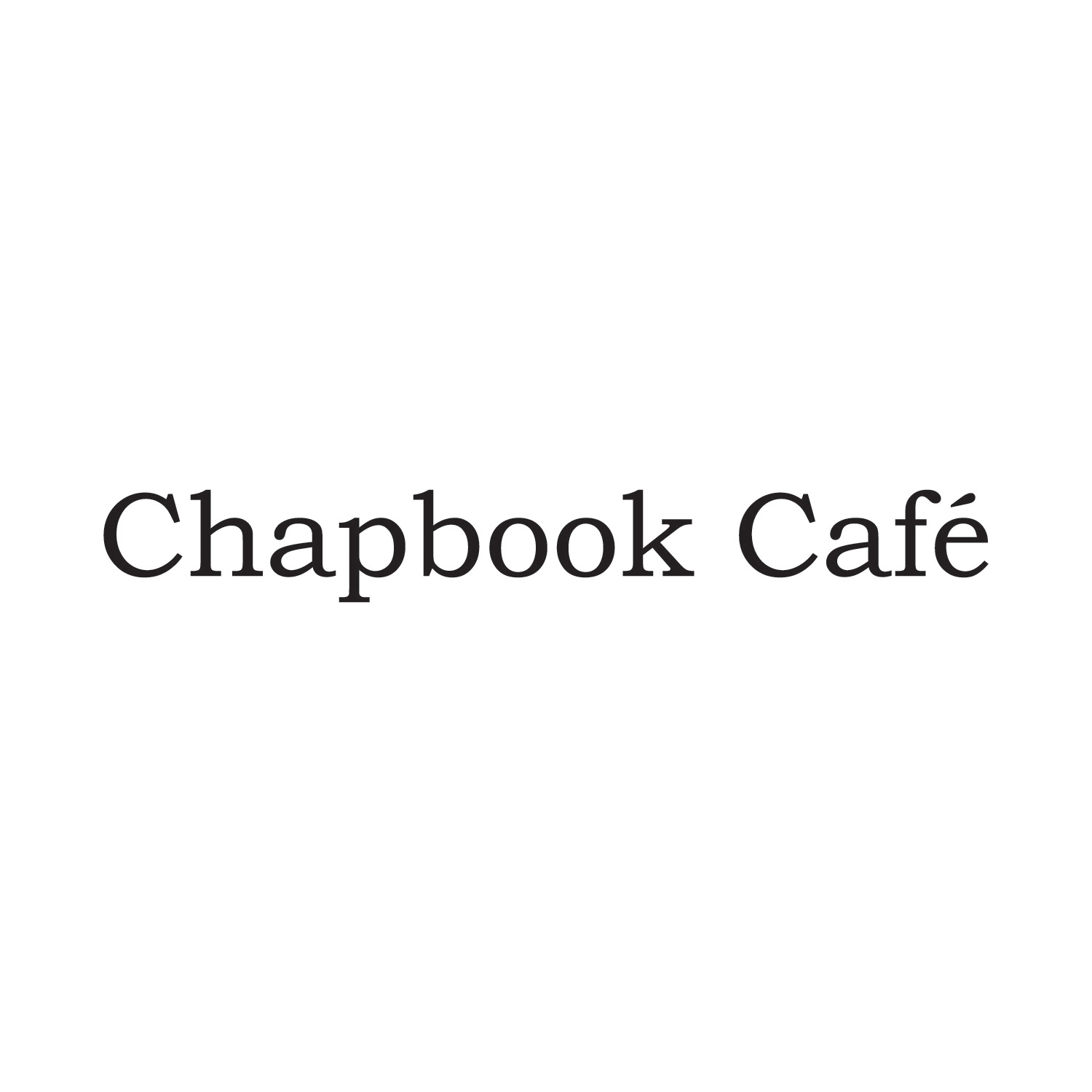 Chapbook Cafe logo