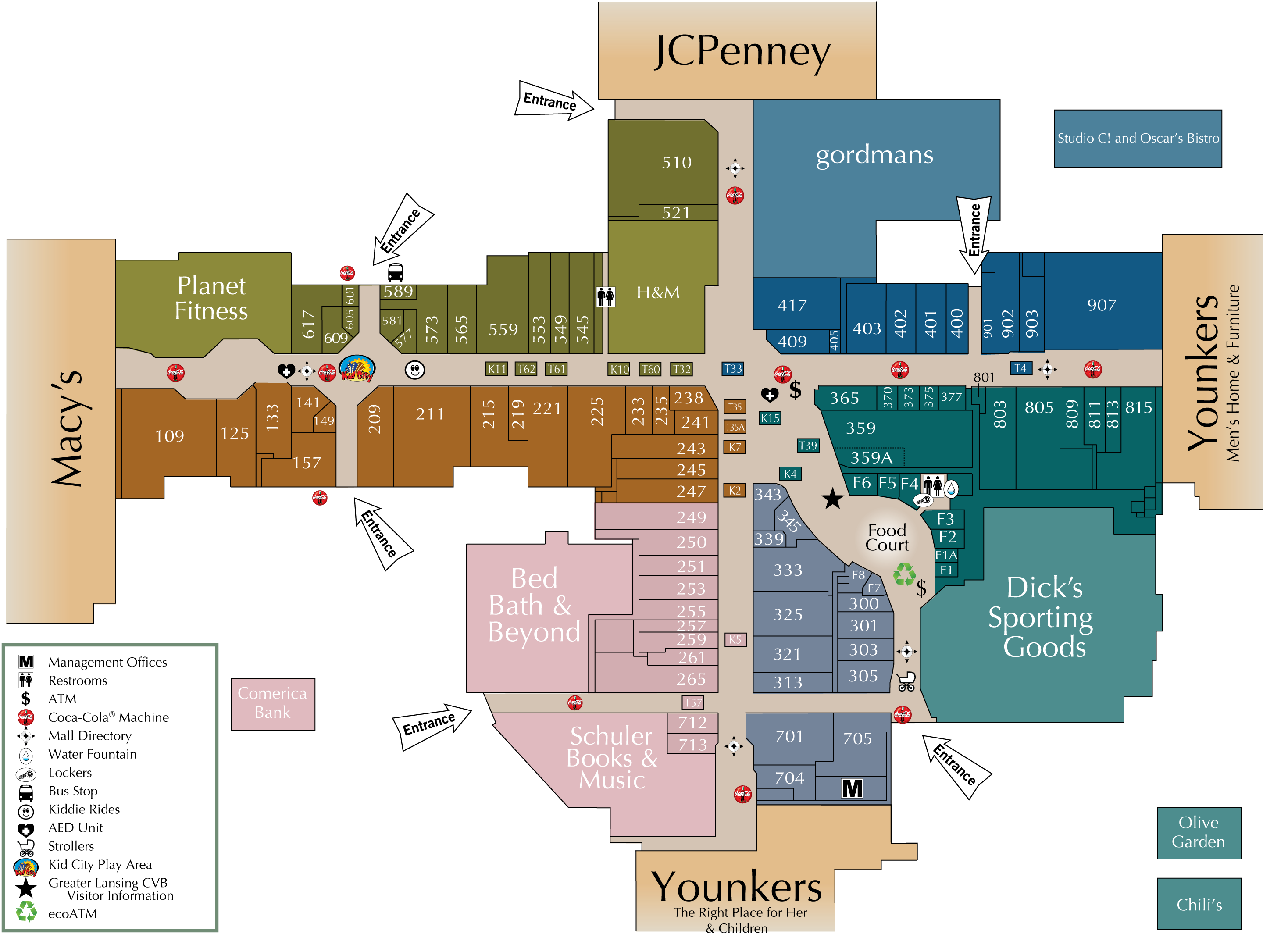 Mall Directory Meridian Mall - Florida mall map