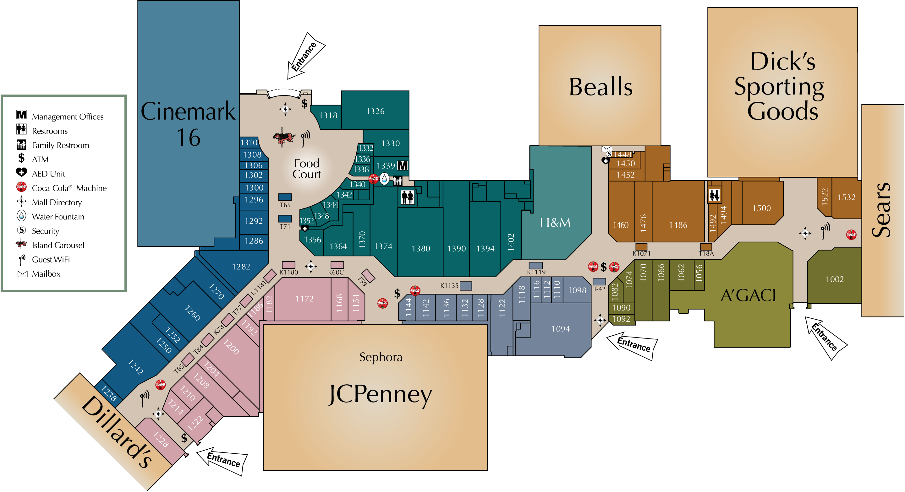 Sunrise Mall Map Mall Directory | Sunrise Mall