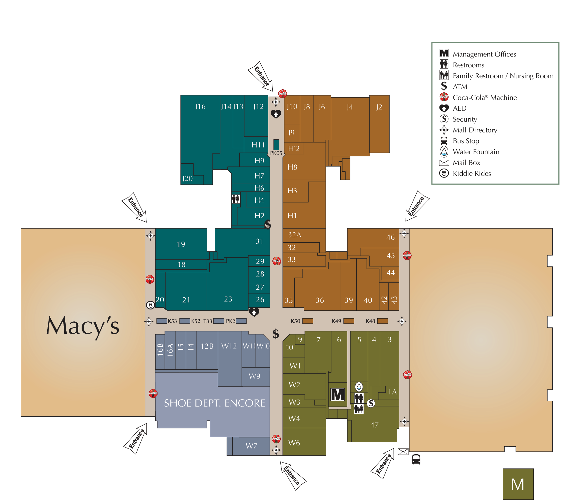 Harford Mall directory map