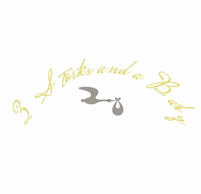 3 Storks And A Baby Logo