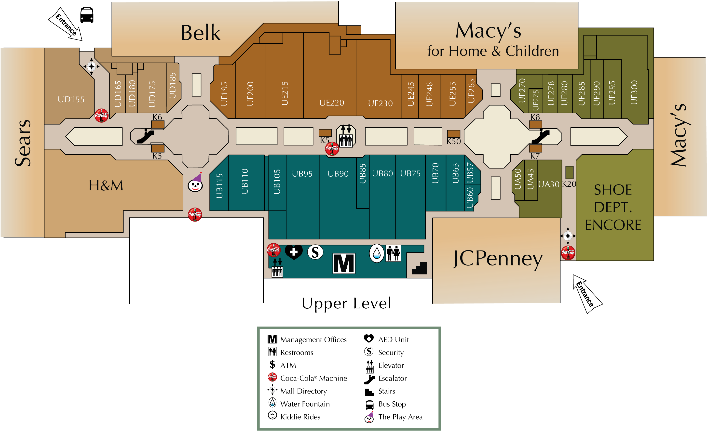 Mall directory valley view mall for Fashion valley jewelry stores