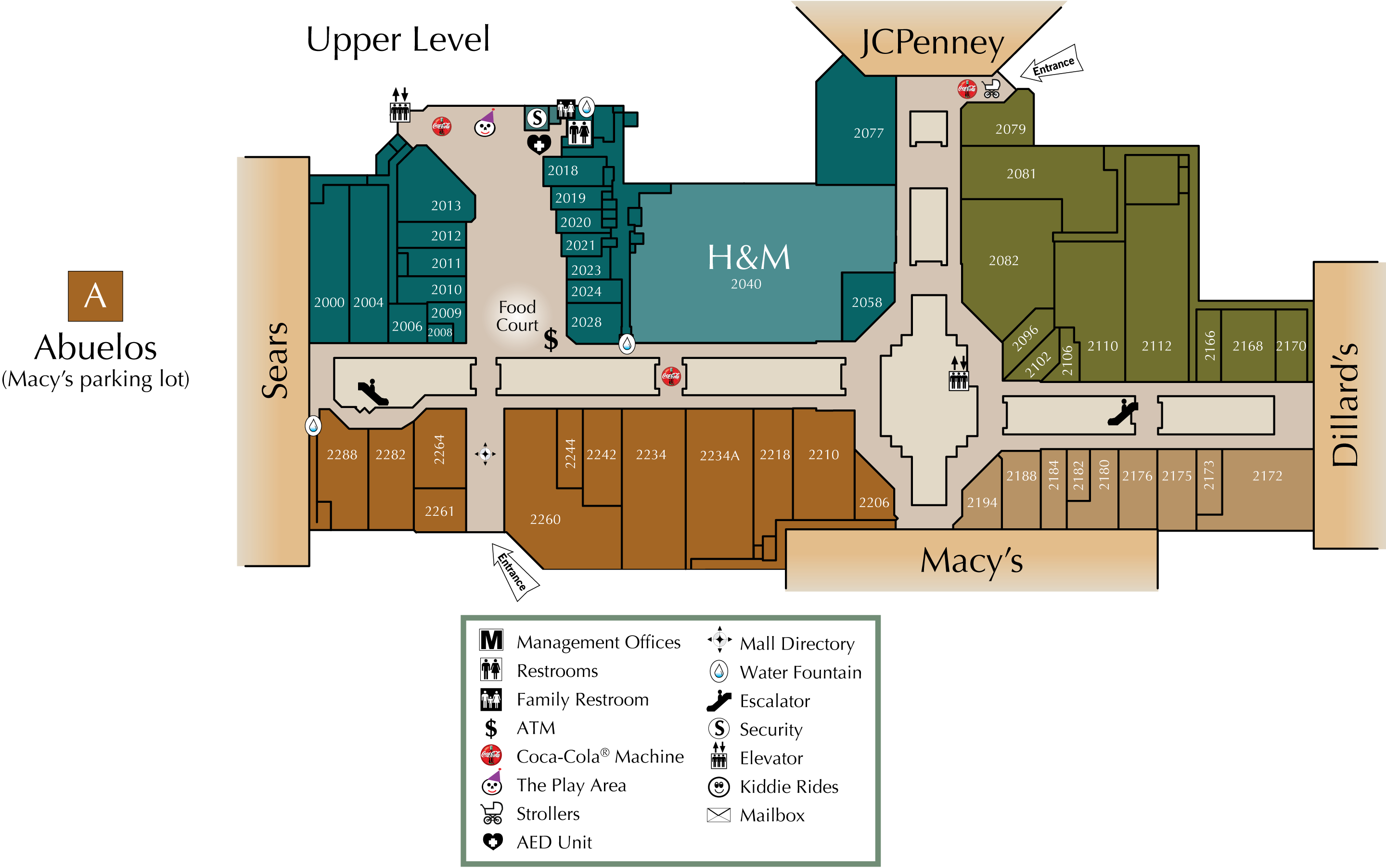 upper level directory map