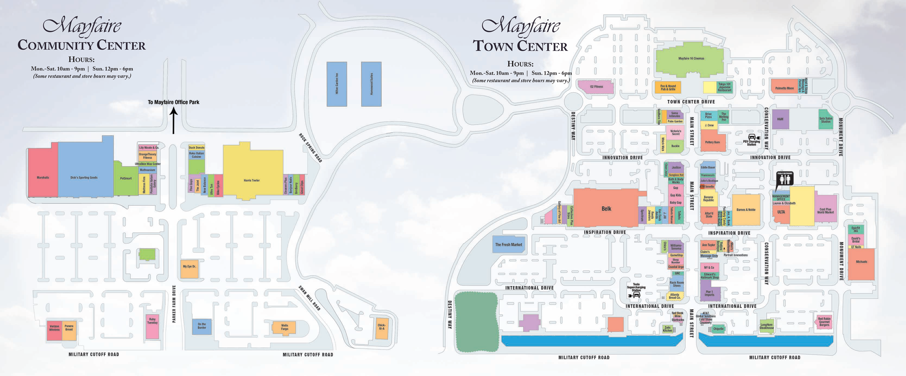 Mayfaire map