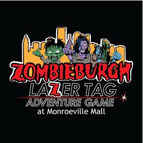 Zombieburgh Lazer Tag logo