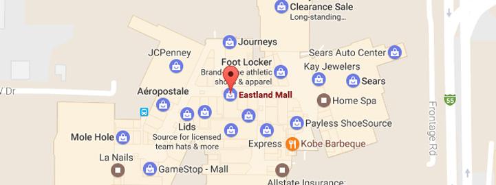 Eastland Mall Map Mall Directory | Eastland Mall Eastland Mall Map
