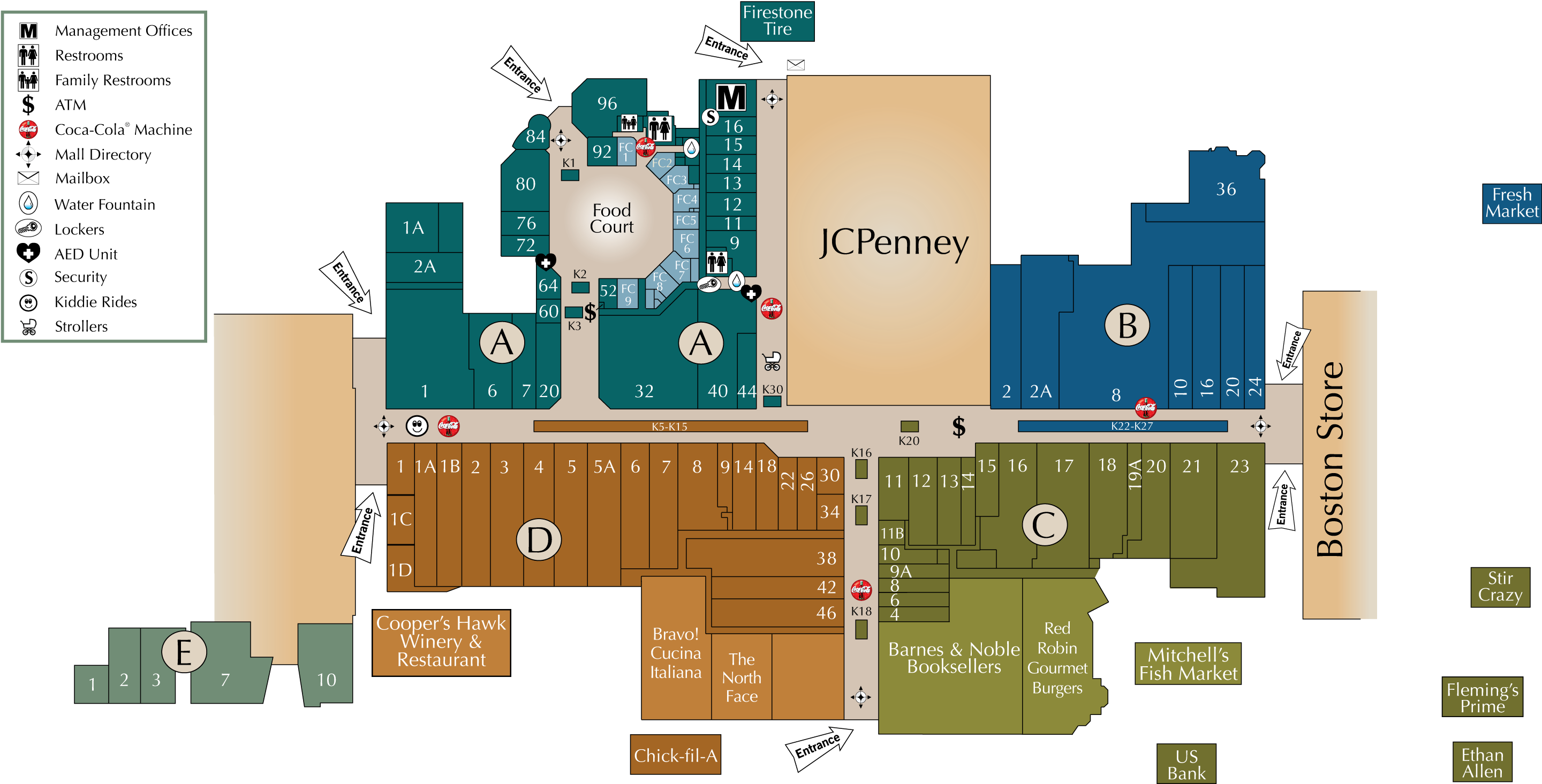 Mall Directory | Brookfield Square