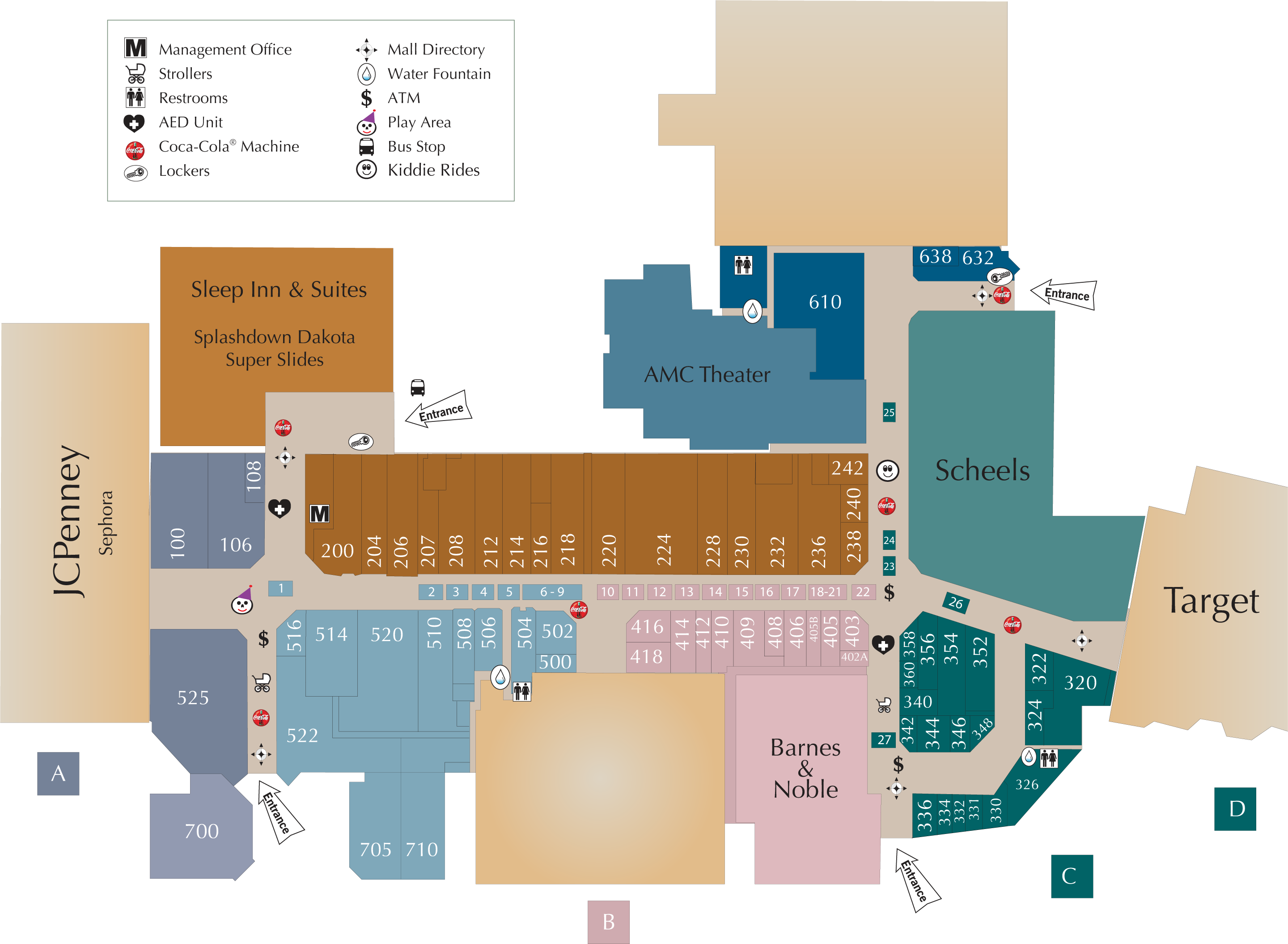 Dakota Square Mall directory map