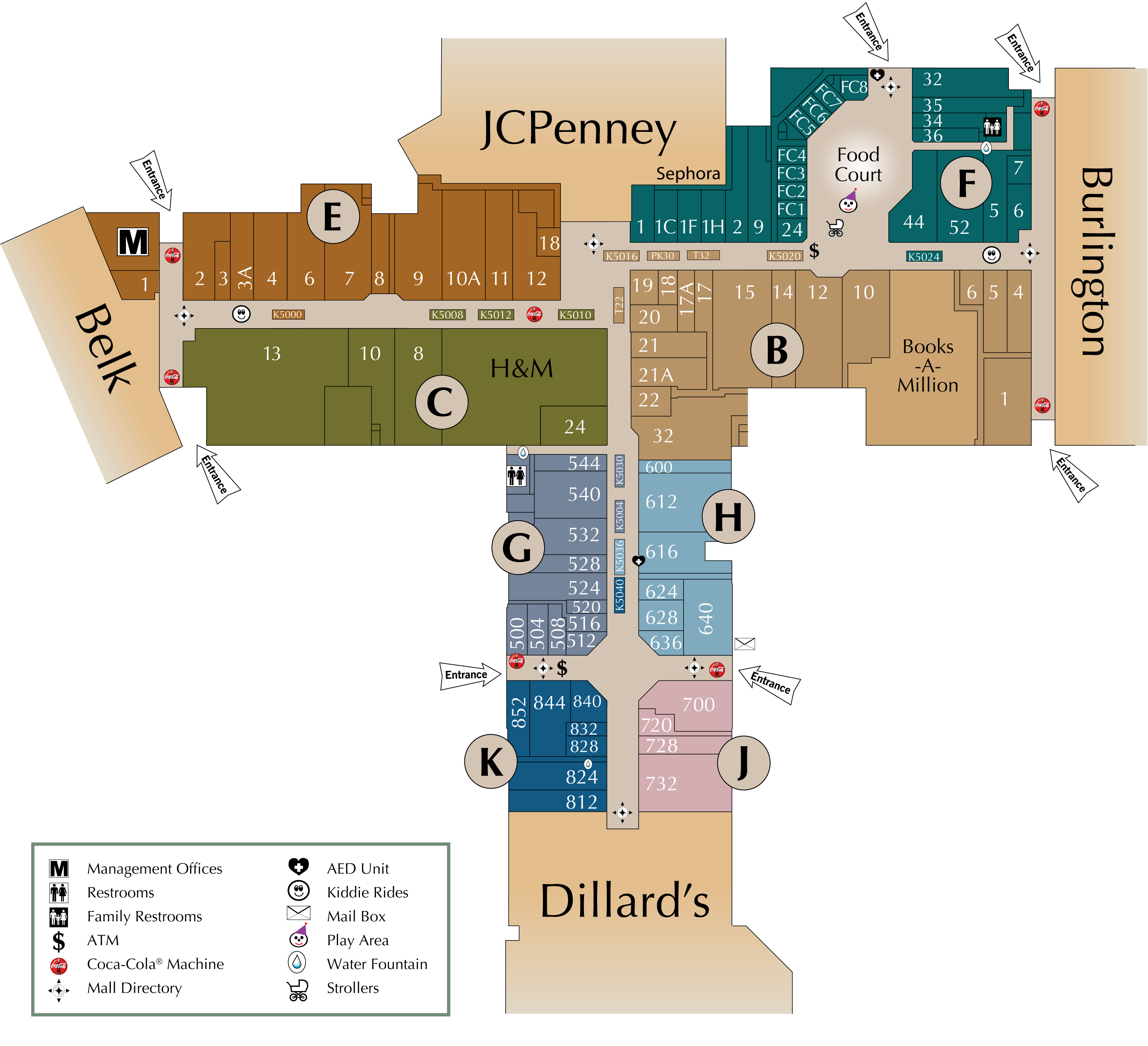 Under Armour Campus Map.Mall Directory Northwoods Mall
