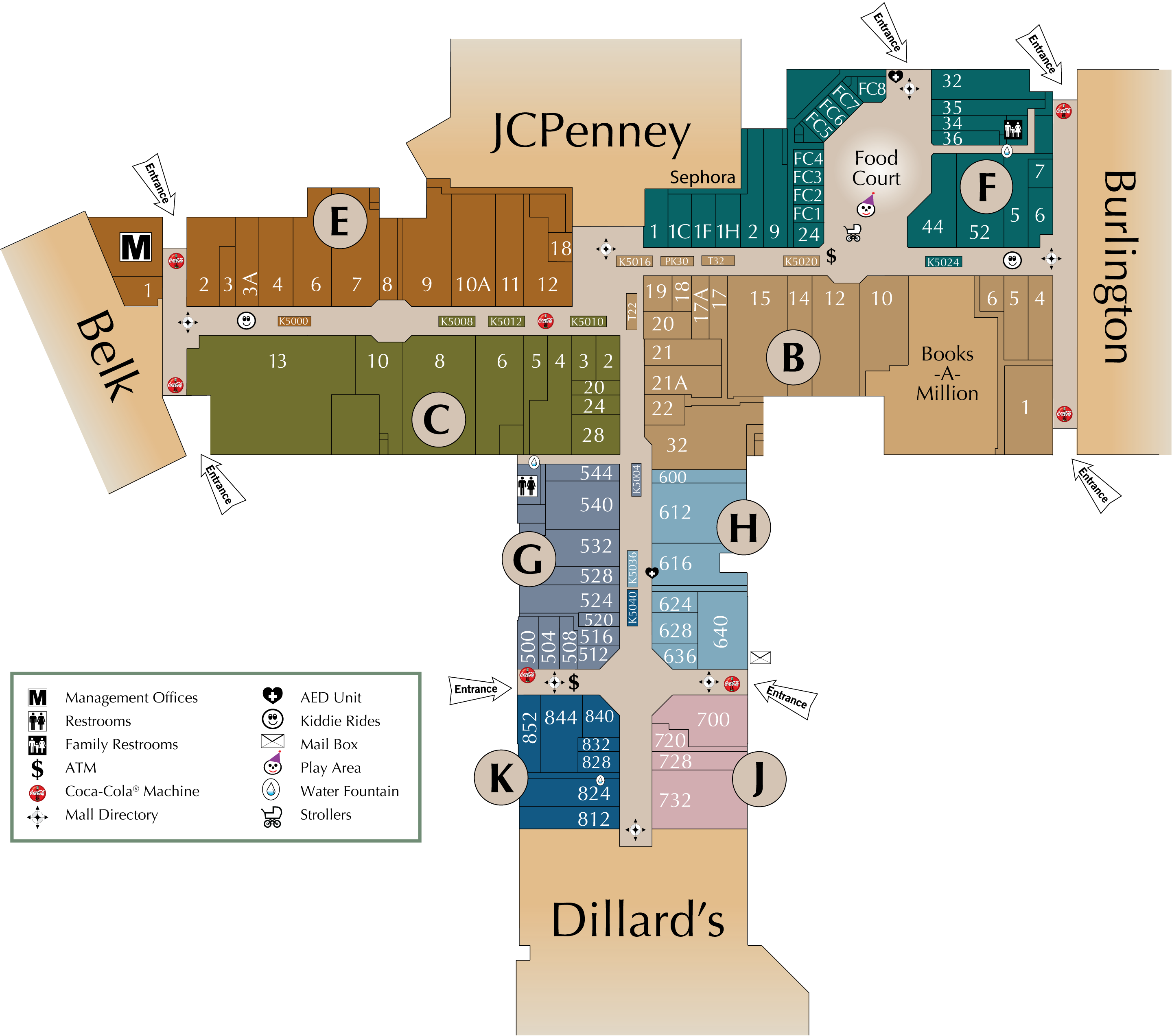 Mall Directory | Northwoods Mall