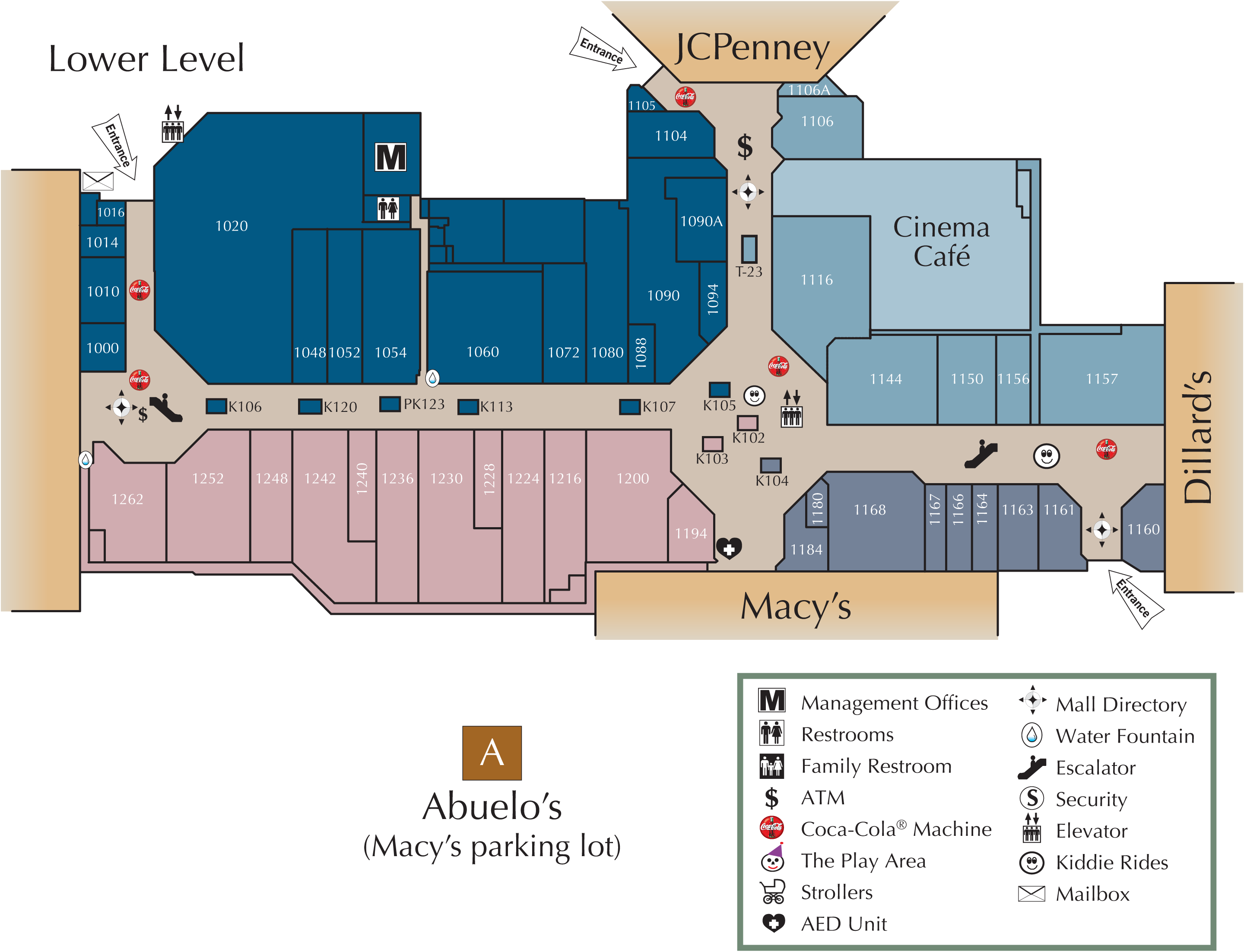 lower level directory map