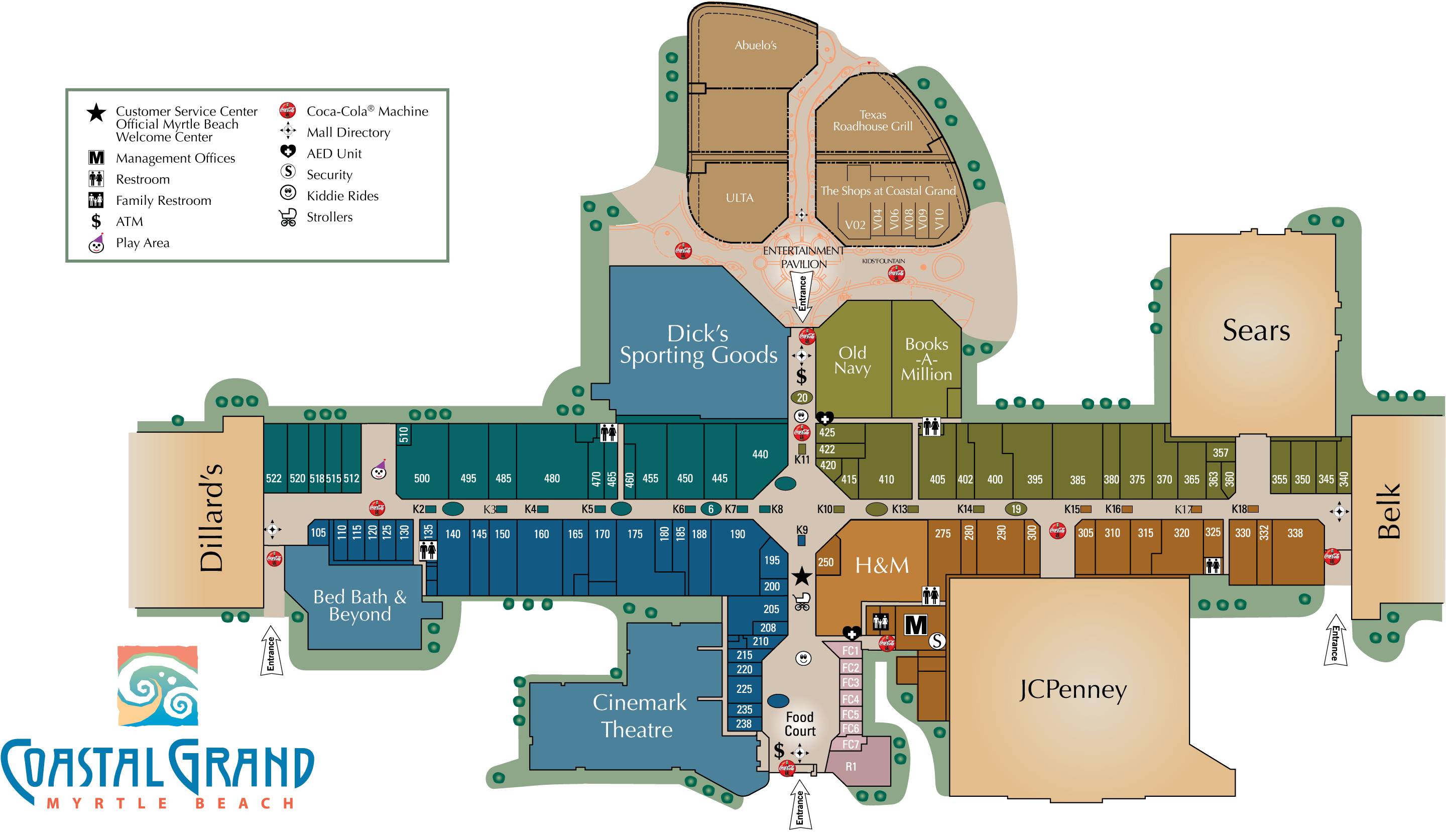 Coastal Grand Mall directory map