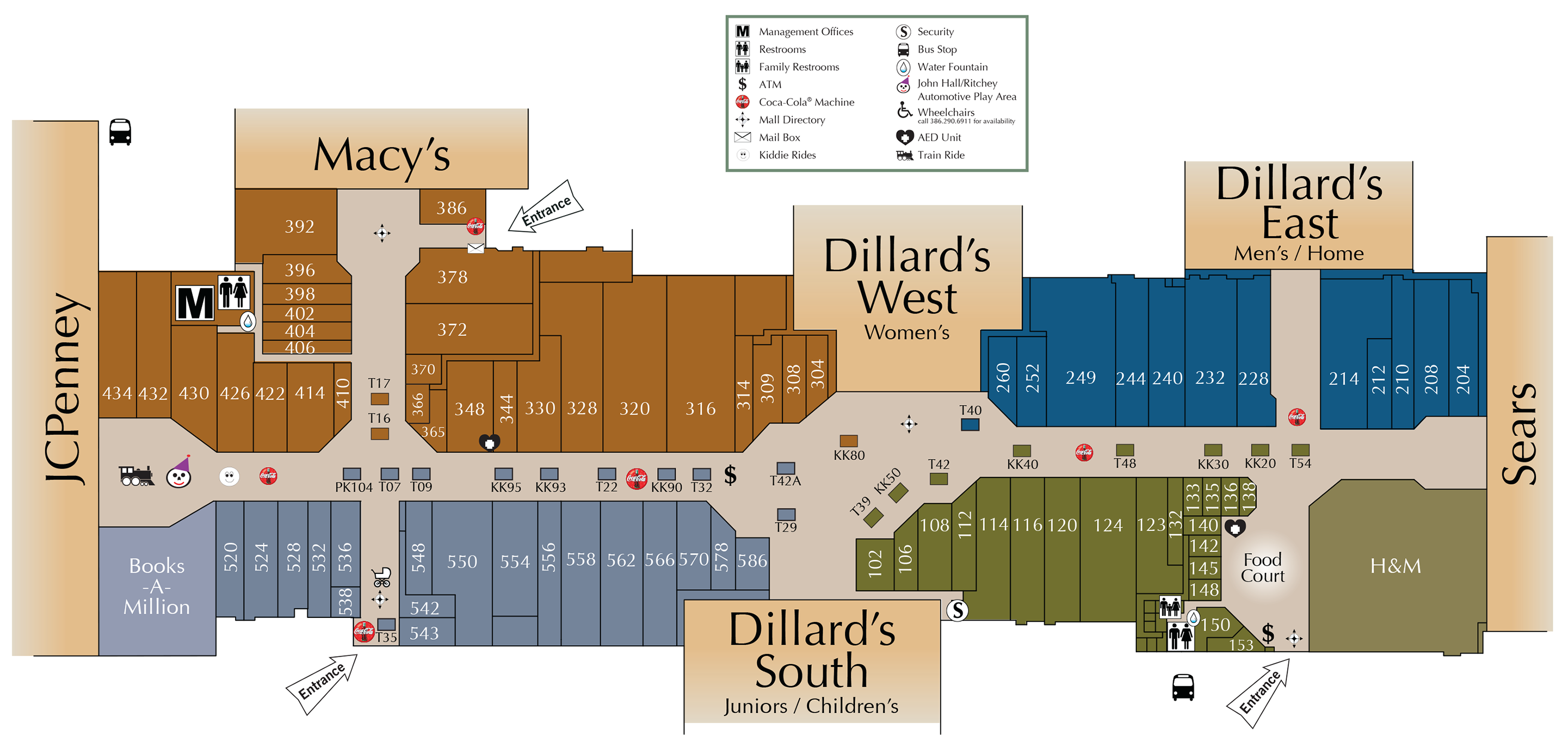 Mall Directory Volusia Mall - Florida mall map