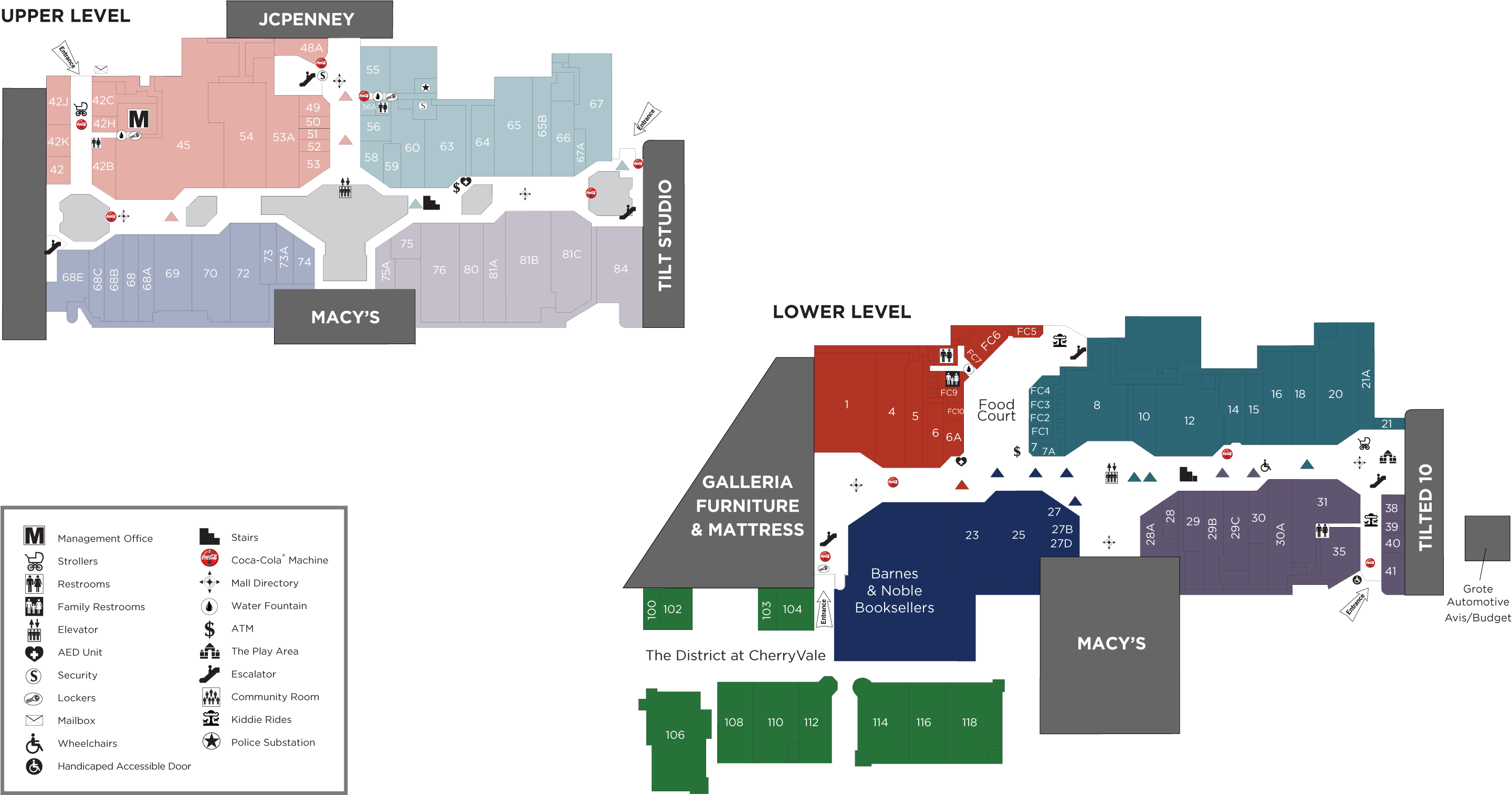 CherryVale Mall directory map