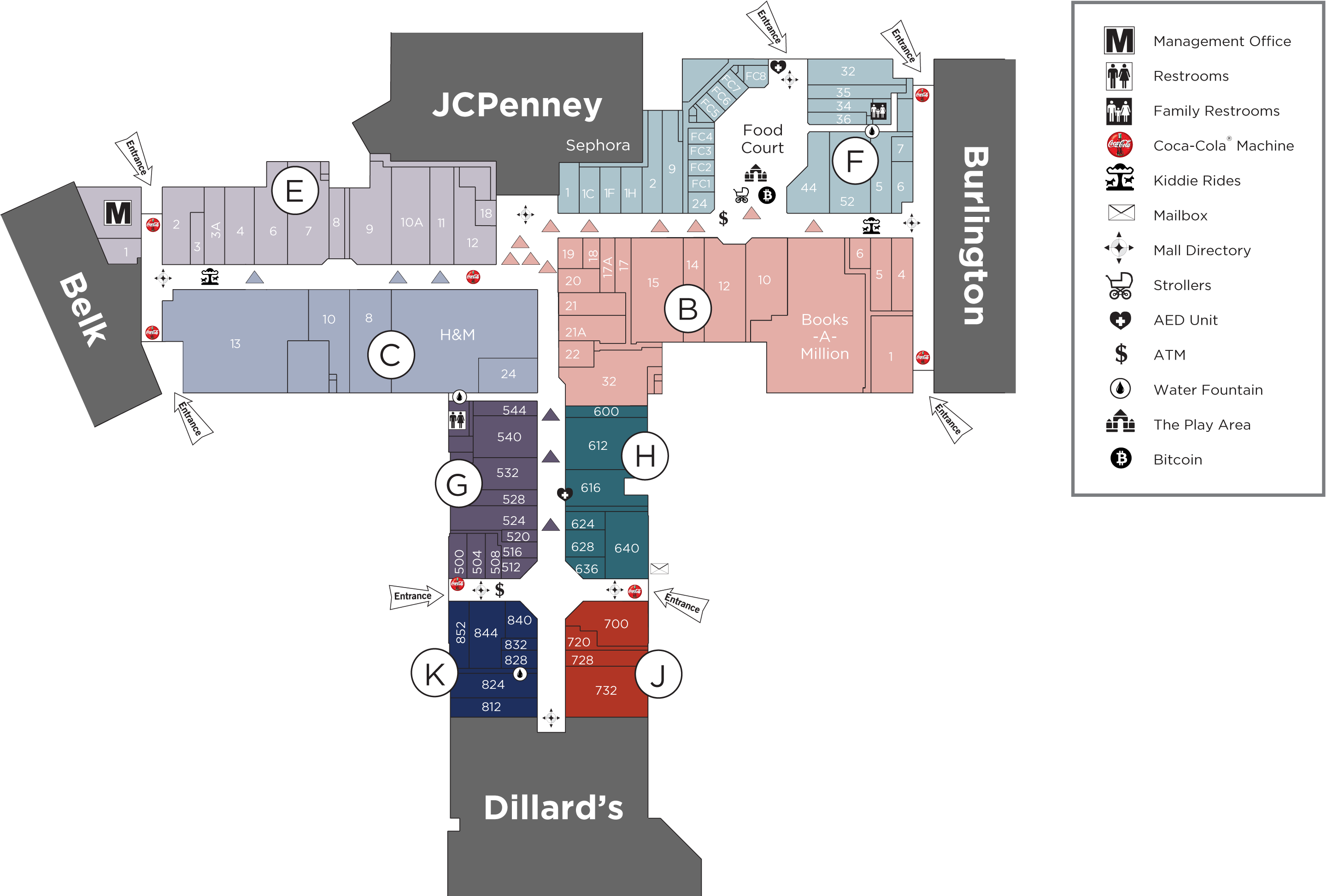 Northwoods Mall directory map