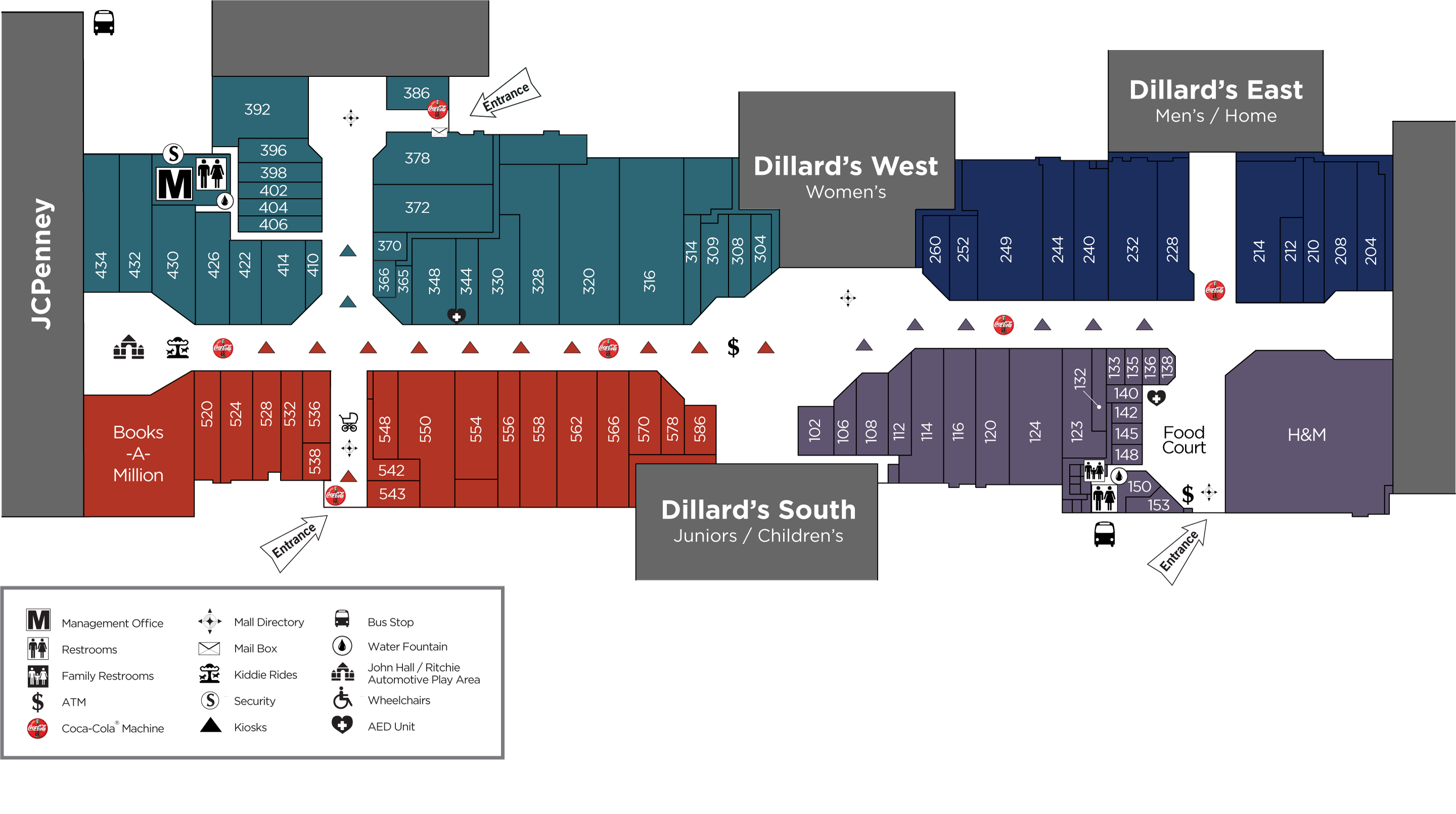 Volusia Mall directory map