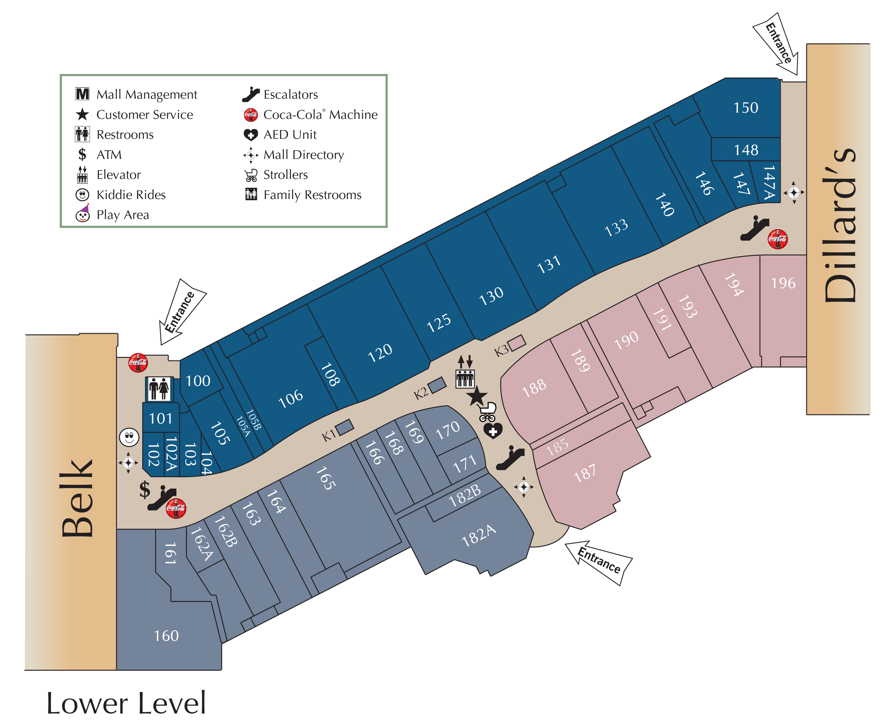 Parkway Place lower level directory map